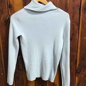 Eddie Bauer Blue turtleneck shirt size small